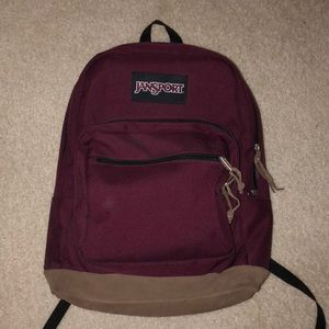 458001570b9 Burgundy Maroon Jansport Original Backpack